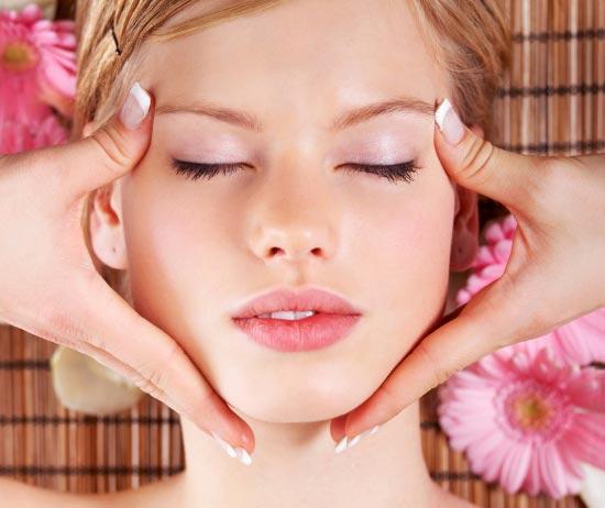 массаж лица,как делать,техника,отеки,не выспалась,освежить,лицо