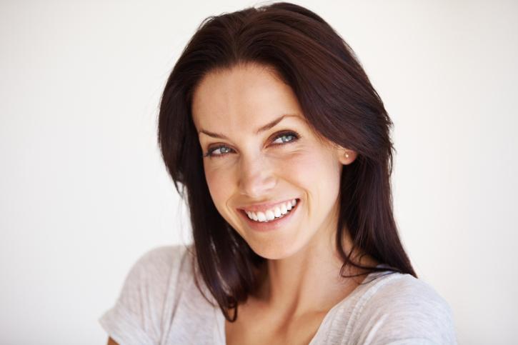 Красивое лицо женщины 40 лет