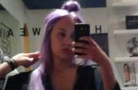 аманда байнс,волосы,фиолетовый,цвет,прическа,рехаб,лечится,новости,2014