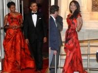 Alexander McQueen,Амаль Клуни,Мишель Обама,мишель обама,наряд,образ,яркий образ,платье