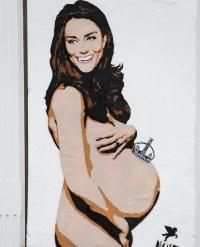 кейт миддлтон,фото,беременность,второй ребенок,беременна,2014,новости,обнаженная,граффити