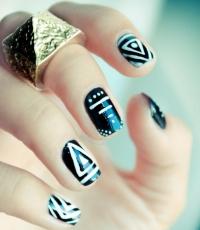 черный,цвет,лак для ногтей,маникюр,фото,варианты,зима
