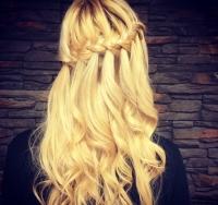 коса-водопад,косы,фото,варианты,как плести,Instagram,прически с косами,длинные волосы