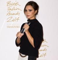 виктория бекхэм,фото,2014,бренд года,фото,стиль,Дэвид Бекхэм,British Fashion Awards,Victoria Beckham