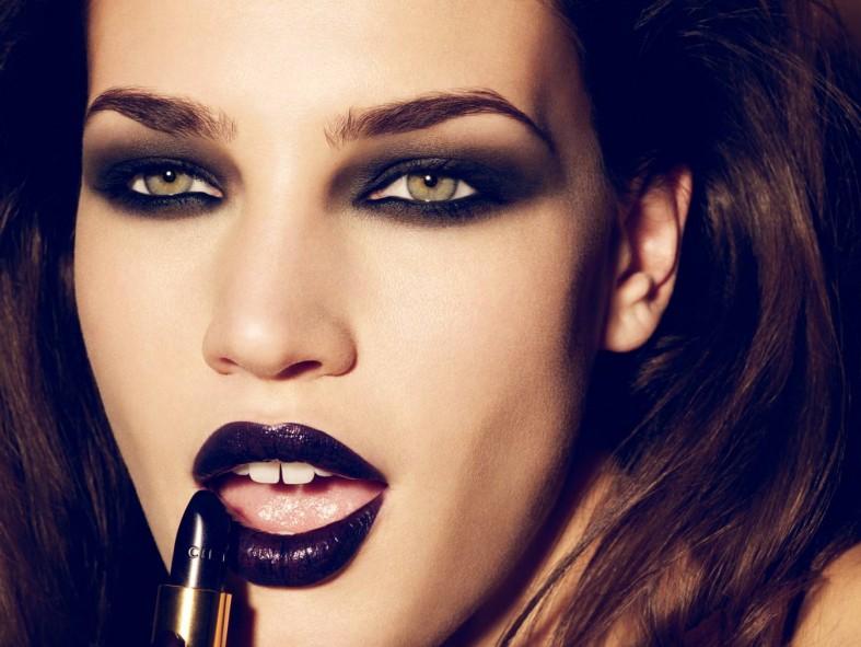 черная помада,фото,готичный макияж,вампи,темная помада,как носить,советы,фото