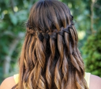 водопад,коса,видео,прическа,как сделать,мастер-класс,пошагово
