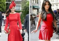 кейт миддлтон,ким кардашьян,фото,модная битва,платье,Alexander McQueen