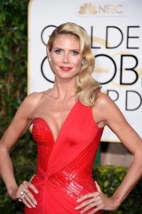 Golden Globes Awards 2015,золотой глобус,Золотой глобус 2015,золотой макияж,макияж,Хайди Клум,образ