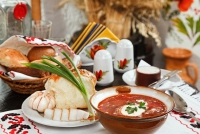 украинская еда,национальная кухня,борщ,вареники,сало,зимние напитки,картофель,овощи,здоровый рацион