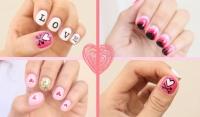день святого валентина,день валентина,14 февраля,маникюр,идеи,дизайн,видео,мастер-класс,фото,2015