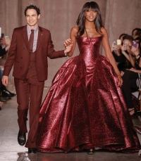 фото,наоми кэмпбелл,показ,неделя моды в Нью-Йорке,осень-зима,2015,Zac Posen,обзор,платья