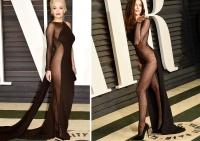 рита ора,ирина шейк,фото,платье,модная битва,2015,оскар,Vanity Fair Oscar Party