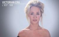 эволюция макияжа, эволюция макияжа видео, эволюция макияжа BuzzFeed, как красились женщины, история макияжа