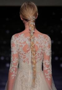 прически на свадьбу,свадебная прическа,свадебная мода 2015,Bridal Fashion Week