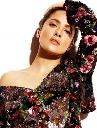 сальма хайек,новая фотосессия,идеальная кожа лицо,Madame Figaro,натуральный макияж