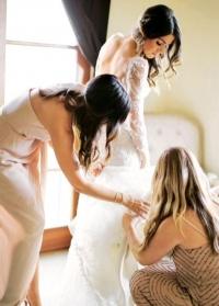 никки рид,свадебный макияж,прическа,йен сомерхолдер,Claire Pettibone