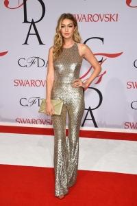 CFDA Fashion Awards,наряды звезд,золотой макияж,джиджи хадид,beauty-образ