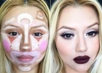 контурирование лица,скульптурирование лица,корреккция лица, клоунское контурирование лица фото, клоунское контурирование лица видео