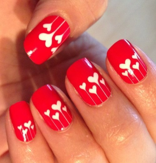 День святого Валентина: оригинальные идеи для маникюра
