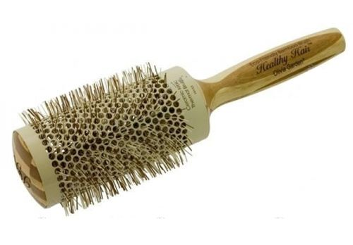 Плоская массажная расческа подходит обладательницам пря- мых густых волос. Она устранит ненужный объем и пригладит волосы. Эта расческа устраняет статическое электричество.