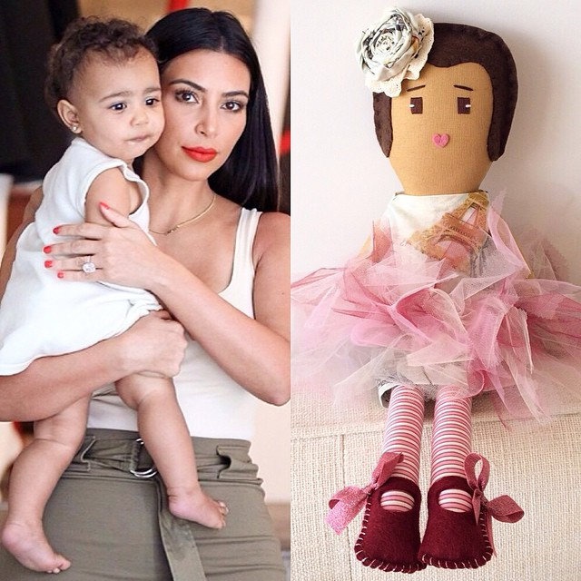 Теперь кукла: дочь Ким Кардашьян превратили в игрушку