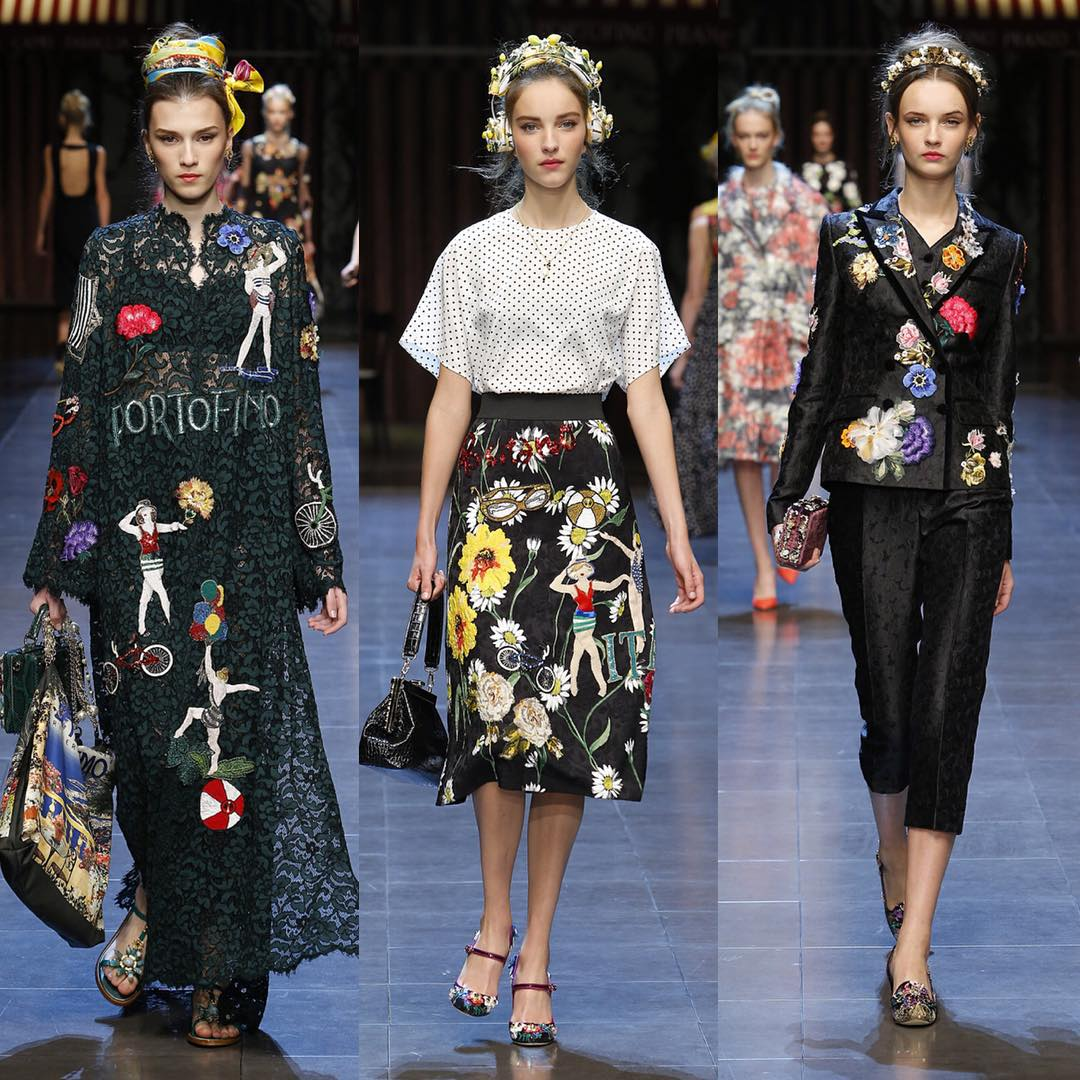I love Italia: селфи, платья-открытки и безмерная любовь к родине на показе Dolce Gabbana весна-лето 2016