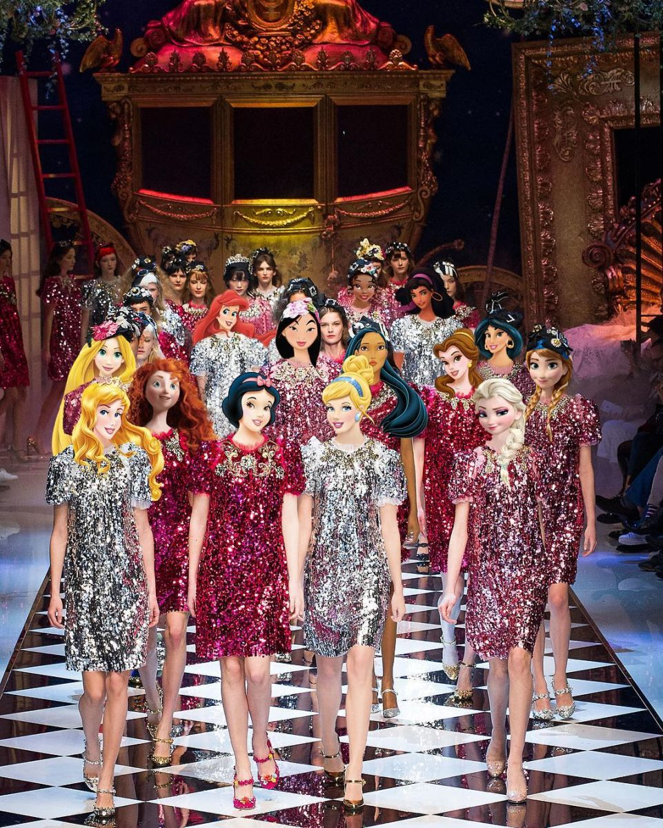 Если бы диснеевские принцессы были моделями и носили Chanel и Balmain фото