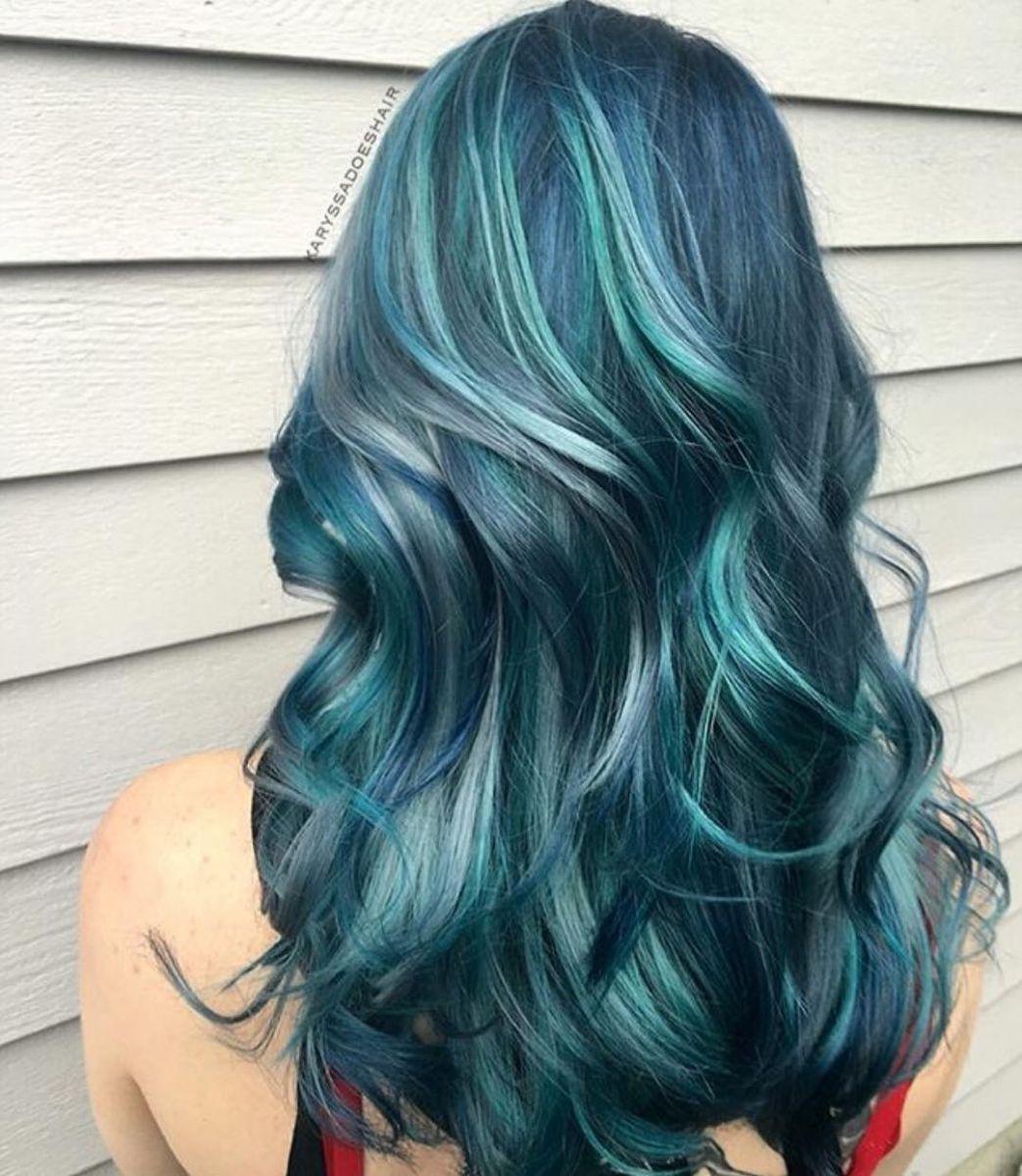 Волосы русалки - тренд, который заставит тебя покраситься в голубой фото