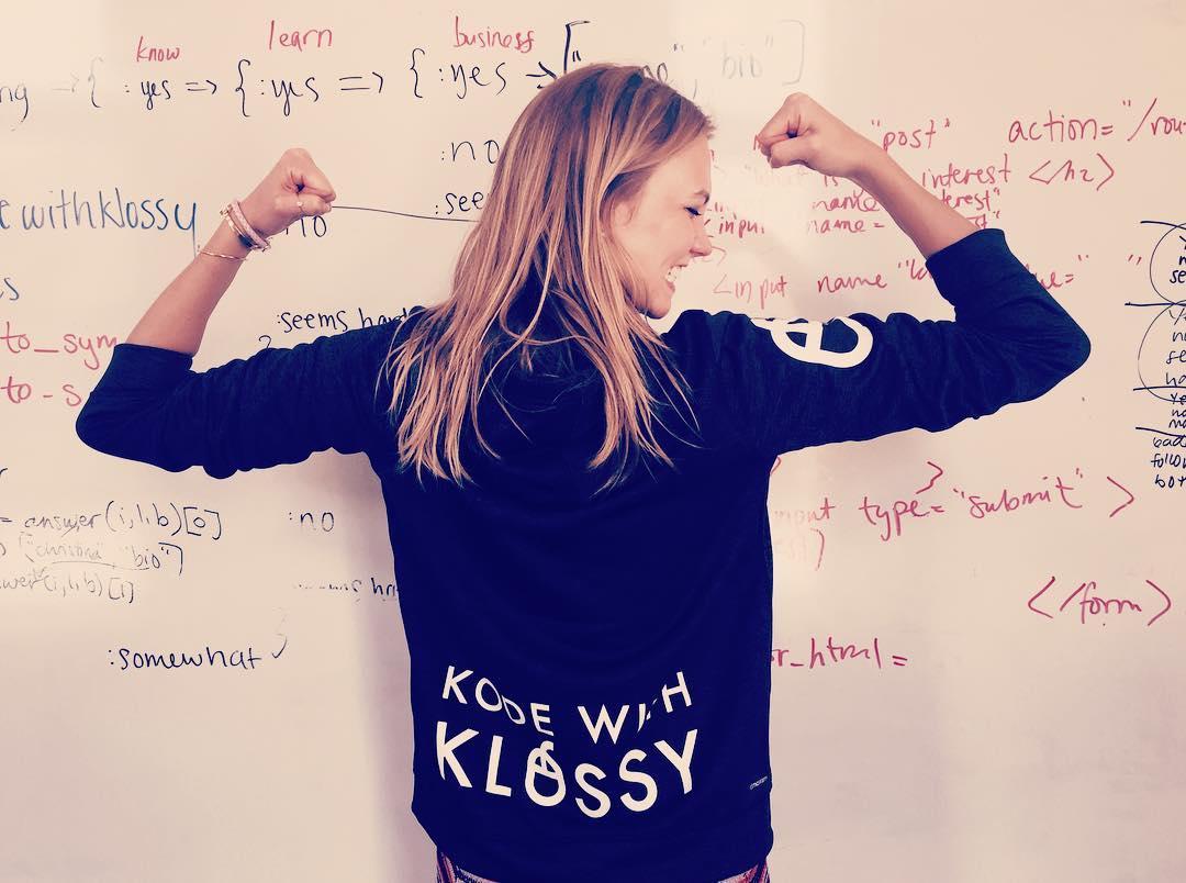 Карли Клосс тала блондинкой фото