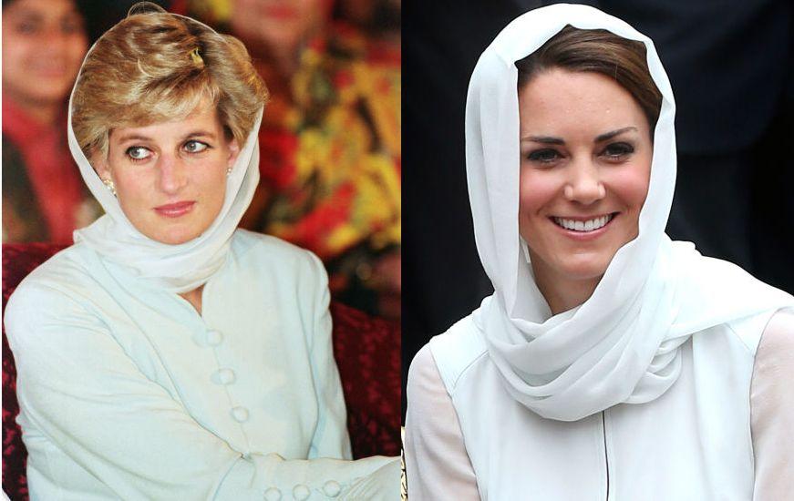 Стиль Кейт Миддлтон и принцессы Дианы фото