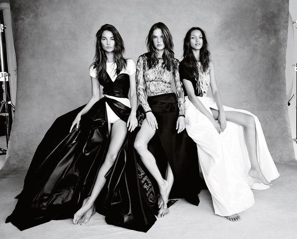 Ангелы Victorias Secret приняли участие в совместной фотосессии