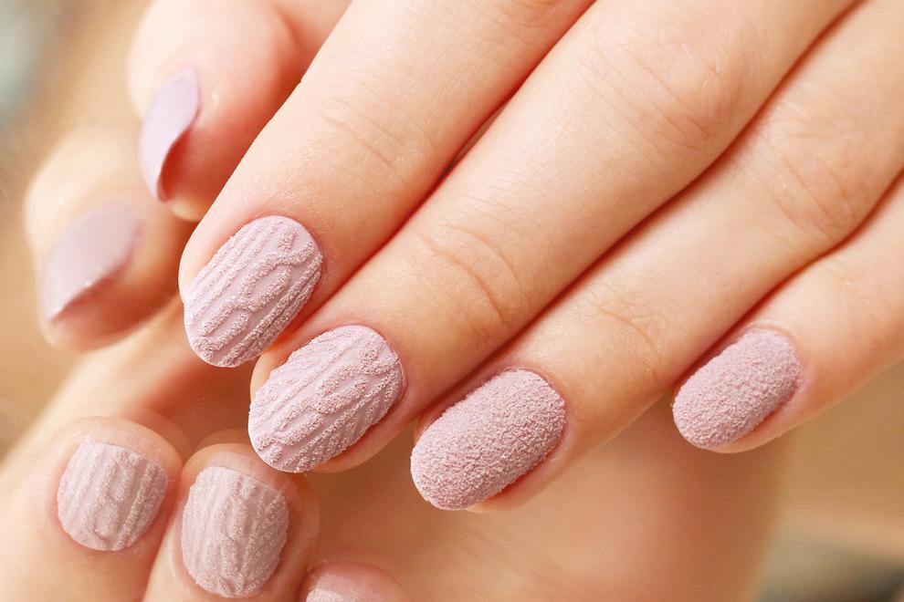 Как сделать эффект свитера на ногтях фото 782