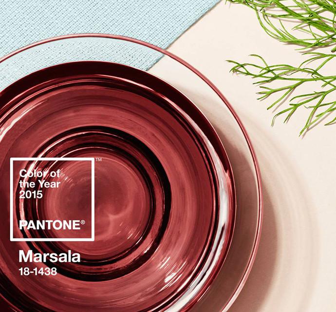 Главный цвет 2015 года - винный Марсала