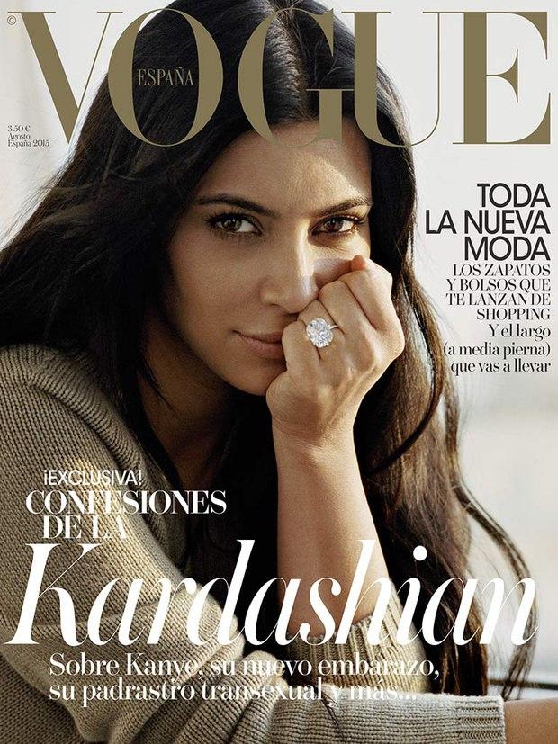 Беременная Ким Кардашьян показала натуральную красоту
