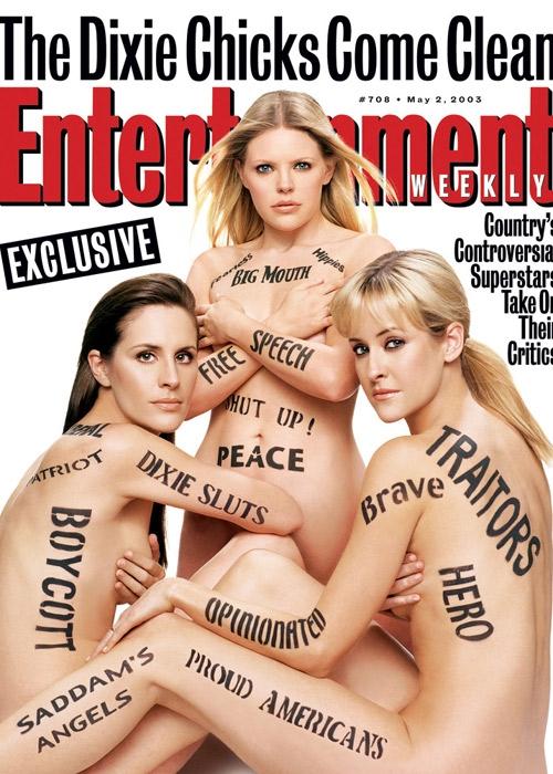 Dixie Chicks в обнаженной фотосессии для Entertainment Weekly, Май 2003