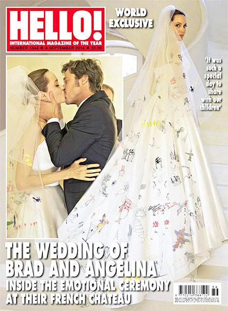 Свадебное платье Анджелины Джоли создали дети