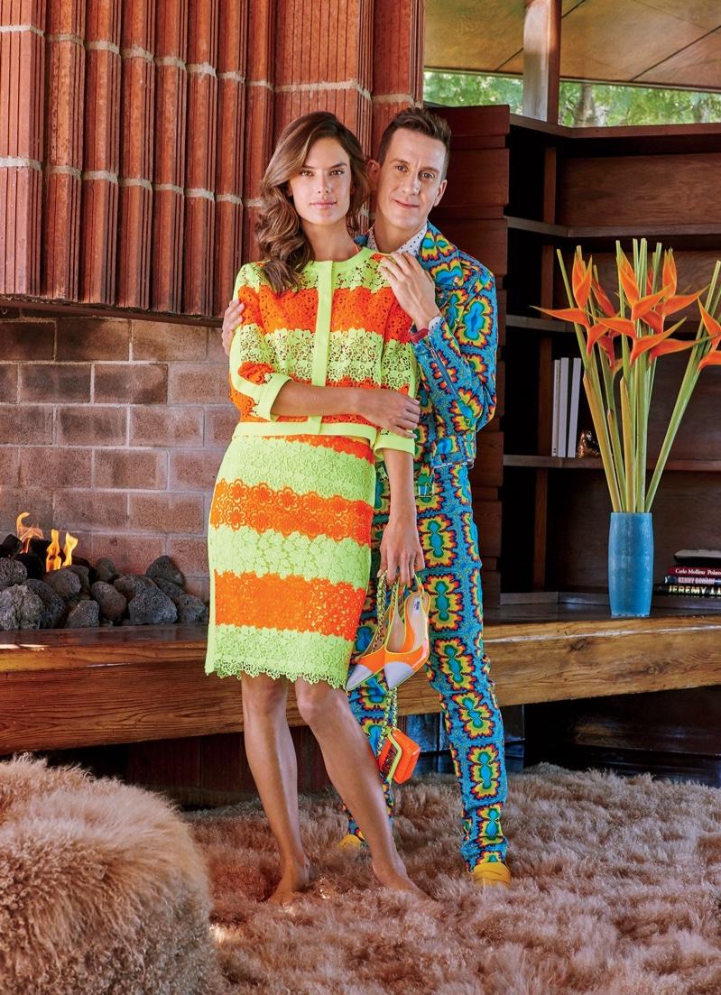 Заходите, не стесняйтесь: Алессандра Амбросио в доме модельера Джереми Скотта для Vogue