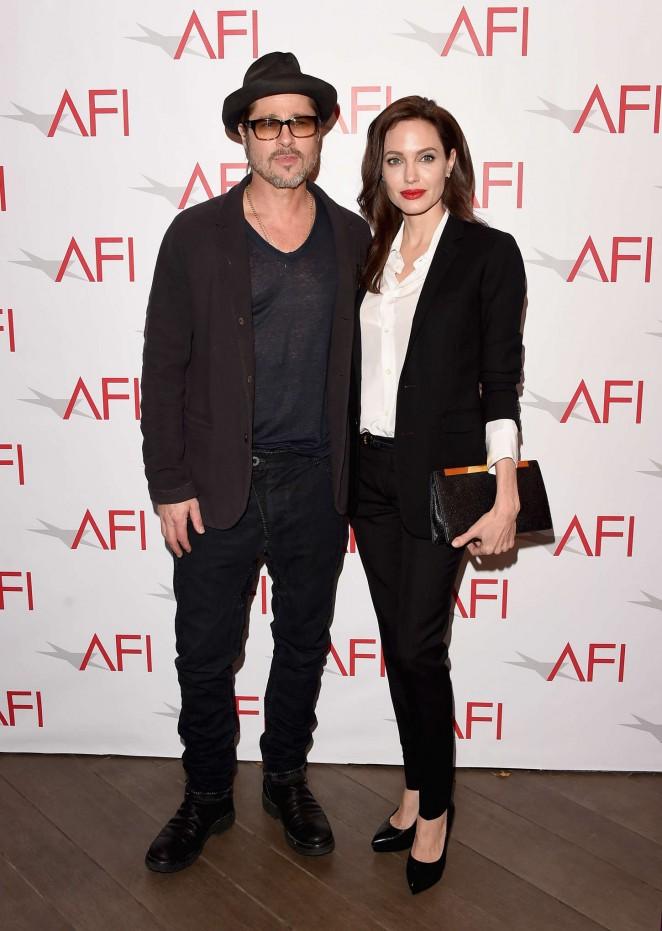 Анджелина Джоли и Брэд Питт на 15th Annual AFI Awards в Лос-Анджелесе.
