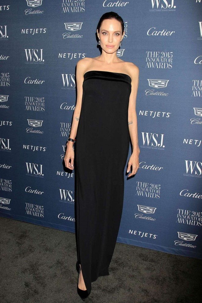 Анджелина Джоли и Брэд Питт на церемонии  WSJ Magazine Hosts The Innovator Awards 2015.
