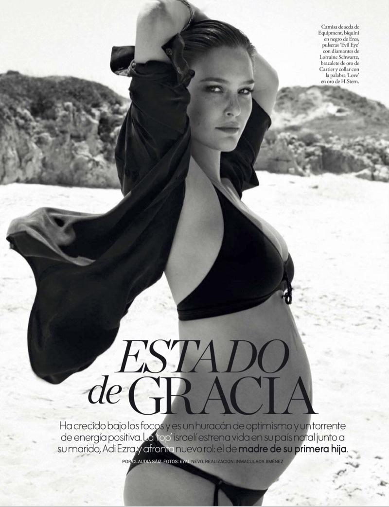 Ожидая чудо: беременная топ-модель Бар Рафаэли в новой фотосессии для Elle Испания