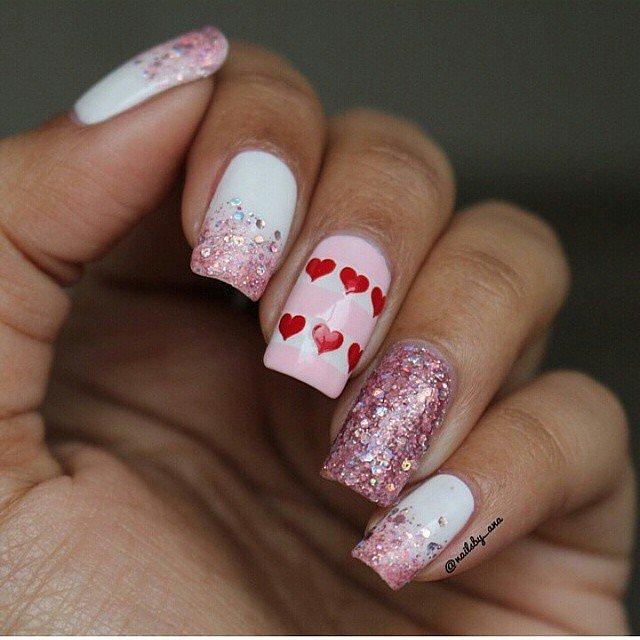 День святого Валентина: 14 лучших вариантов маникюра на 14 февраля, часть 2