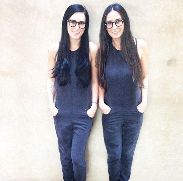 Как две капли: Деми Мур показала своего близнеца