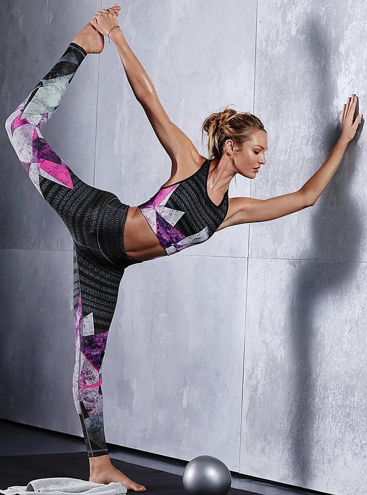 тренировка Кэндис Свейнпол для новой рекламной кампании Victorias Secret