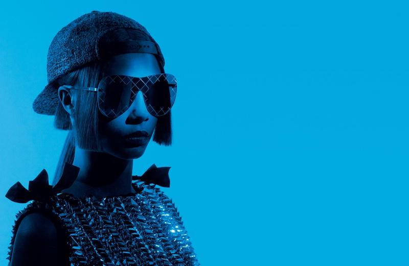 Очки очков: Кара Делевинь рекламирует новую коллекцию необычных очков Chanel