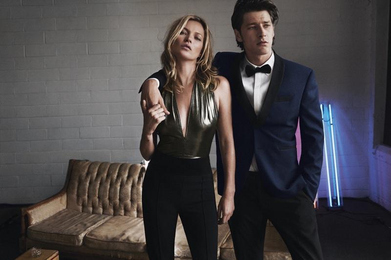 Выход в свет: Кара Делевинь и Кейт Мосс в кампании коллекции вечерних нарядов Mango