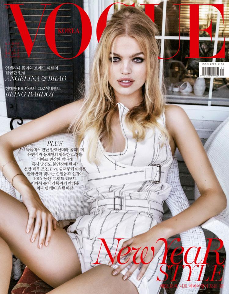 Новая Бриджит Бардо: с приветом из 60-х Дафна Гроенвельд в фотосете Vogue Korea