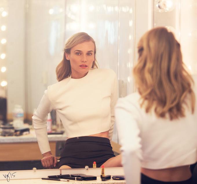 Диана Крюгер в фотосессии для журнала Violet Grey 2015 фото