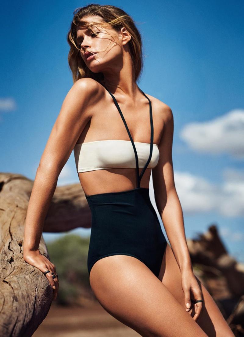 Даутцен Крез позирует в соблазнительных купальниках для Glamour фото