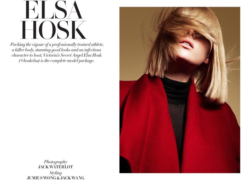 Мало ангельского: неузнаваемая Эльза Хоск на страницах свежего выпуска L'Officiel Singapore