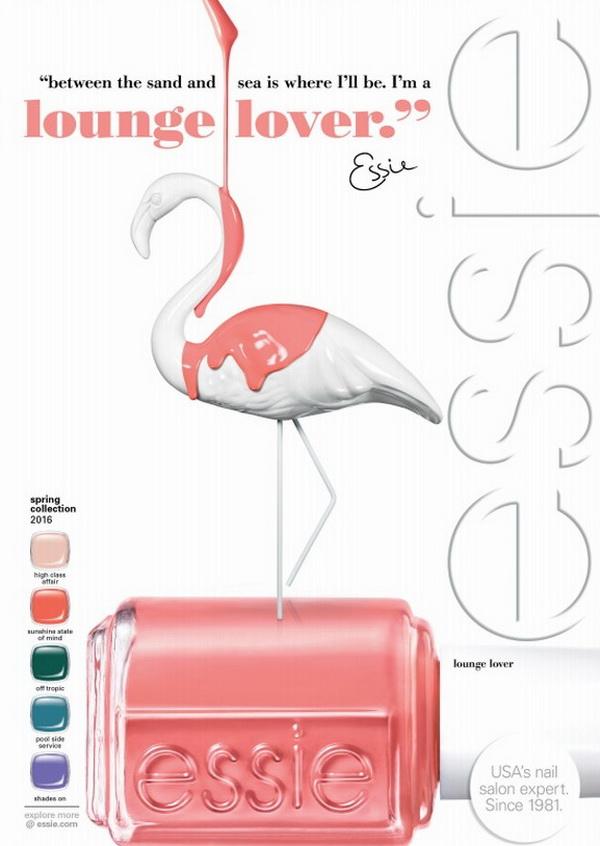 Розовый фламинго: весенняя коллекция лаков для ногтей Lounge Lover от Essie